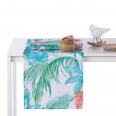 Bieżnik dekoracyjny na stół Kolorowy Egzotyczna Roślinność 40x140 cm PARADISE