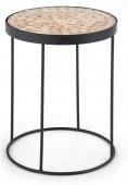 Okrągły stolik kawowy do salonu Industrialny Drzewo Modrzewiowe HILLO