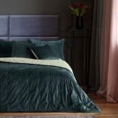 DecoKing – Narzuta na łóżko Premium Pikowana Dwustronna Navy Welwet DAISY