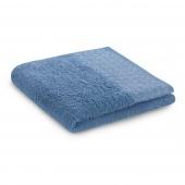 Ręcznik kąpielowy Bawełniany ze srebrnym zdobieniem Ciemno Niebieski MIDAL