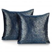 Błyszczące poszewki na poduszki Metalizowany Połysk 45x45 cm 2szt. Granatowe GISSA