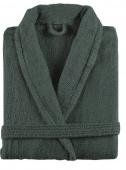 Sorema - Szlafrok z bawełny NEW PLUS Ciemnozielony