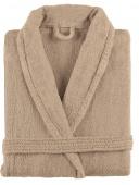 Sorema - Szlafrok z bawełny NEW PLUS Ciemny beż