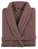 Sorema - Szlafrok z bawełny NEW PLUS Śliwkowy