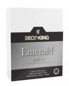 DecoKing – Prześcieradło Jersey - Emerald - Biały