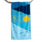 DecoKing – Ręcznik Plażowy Bawełniany Jasny Błękit OCEAN