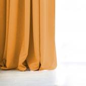 DecoKing – Zasłony Welurowe Musztardowe Gładkie PIERRE 140 x 270 cm