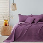 Narzuta na łóżko Pikowana Dwustronna Fioletowa SOFTA