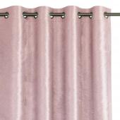 Zasłona zaciemniająca na przelotkach Glamour Różowa 140x250 LUXUA