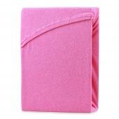 AmeliaHome – Prześcieradło z gumką Frotte Różowe RUBY