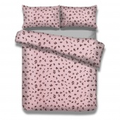 Pościel bawełniana w cętki Różowa Premium Wild Dots FLEUR