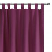 Zasłony dekoracyjne na szelkach Oxford Tie Back 140x250 cm Fioletowe ELEGANTE