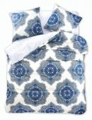 DecoKing – Pościel Bawełniana Biało Niebieska Diamond TRISTANE MOTYWY ORIENTALNE