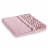Ręcznik kąpielowy Bawełniany z bordiurą Pudrowy Róż DESSIN