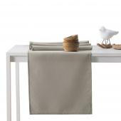DecoKing - Komplet obrus i bieżnik bawełniany Cappuccino PURE