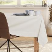 DecoKing - Obrus bawełniany z mankietem Kremowy PURE