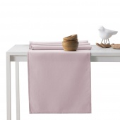 DecoKing - Komplet obrus i bieżnik bawełniany Pudrowy Róż PURE