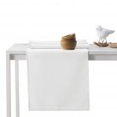 DecoKing - Komplet obrus i bieżnik bawełniany Biały PURE