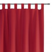 Zasłony dekoracyjne na szelkach Oxford Tie Back 140x250 cm Czerwone ELEGANTE