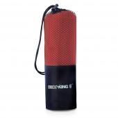 DecoKing - Ręcznik szybkoschnący z mikrofibry Czerwony EKEA