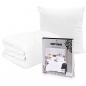 DecoKing – Zestaw kołdra, poduszka, pościel Biały PRESTIGE PASKI