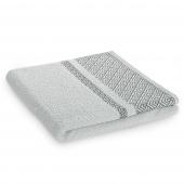 Ręcznik kąpielowy Bawełniany z bordiurą Jasno Szary DESSIN