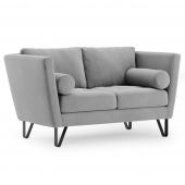 Sofa na stalowych nogach Premium Velvet Szara DELTA