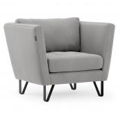 Nowoczesny fotel tapicerowany do salonu Szary DELTA