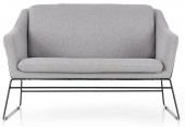 Sofa tapicerowana do salonu Skandynawska Czarny Stelaż Szary ASTOR
