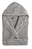 Sorema - Stylowy szlafrok bawełniany LARGS Szaro-Czarny