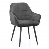 Krzesło Tapicerowane Welurowe Do Salonu Jadalni Stalowe VICHY