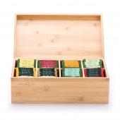 Bambusowy pojemnik na herbatę z przegródkami Organizer FROX