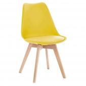 Krzesło do jadalni z poduszką Żółte TEMPA