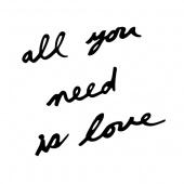 Umbra - Dekoracja ścienna LOVE IS ALL YOU NEED 10 elementów Czarna MANTRA