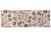 Mata podłogowa do kuchni i łazienki Antypoślizgowa Beżowa Warzywa LAGUM