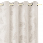 Zasłony welwetowe tłoczone na przelotkach Dekoracyjne 135x250 cm Kremowe PAONNE