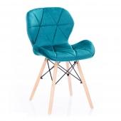 Krzesło Welwetowe do Jadalni Gabinetu Niebieskie SILLA