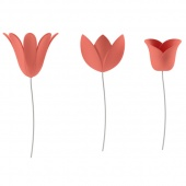 Umbra - Dekoracje ścienne Kwiaty 9 szt. Koralowe BLOOMER