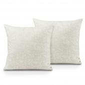 Poszewki na poduszki Liście Miłorzębu 45x45 cm 2szt. Białe JAPANDI