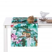 Bieżnik dekoracyjny na stół Kolorowa Fauna i Flora Tropiki 40x140 cm PARADISE