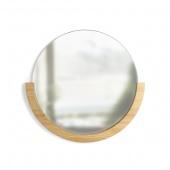 Umbra - Lustro ścienne Okrągłe Drewniane MIRA