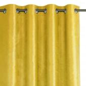 Zasłona zaciemniająca na przelotkach Glamour Żółta 140x250 LUXUA
